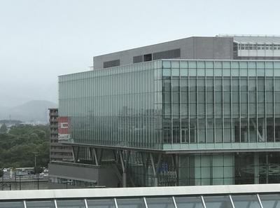開会式会場の交流センター